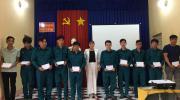 Phường Tân Quy Đông tổ chức giải ngạch và kết nạp mới lực lượng dân quân năm 2021