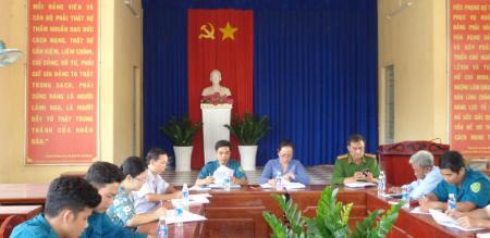 Hội đồng NVQS Phường Tân Quy Đông tổ chức tập trung quân và giao quân năm 2020
