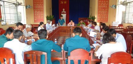 Hội đồng nghĩa vụ quân sự phường Tân Quy Đông tổ chức họp triển khai kế hoạch giải ngạch và kết nạp mới lực lượng dân quân tự vệ năm 2020