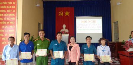 Ban chỉ huy Quân sự phường Tân Quy Đông tổ chức Hội nghị Tổng kết  công tác tuyển quân năm 2020
