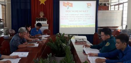 Đoàn phường Tân Quy Đông: tổ chức hội nghị sơ kết giữa nhiệm kỳ 2017-2022
