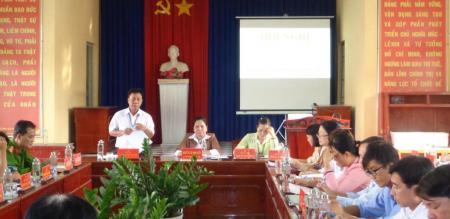 Hội nghị Ban Chấp hành Đảng bộ phường Tân Quy Đông lần thứ 62, nhiệm kỳ 2015-2020