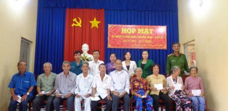 Ủy ban nhân dân phường Tân Quy Đông: tổ chức họp mặt kỷ niệm 73 năm Ngày Thương binh–Liệt sĩ (27/7/1947 – 27/7/2020)