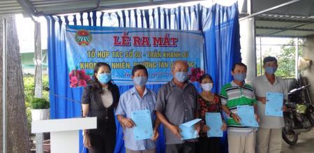Hội Nông dân phường Tân Quy Đông ra mắt Tổ hợp tác số 2 – Trần Khánh Dư, khóm Sa Nhiên