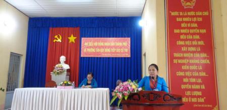 Đại biểu Hội đồng nhân dân thành phố và phường Tân Quy Đông tiếp xúc cử tri sau kỳ họp lần thứ 10, khóa XI, nhiệm kỳ 2016 - 2021
