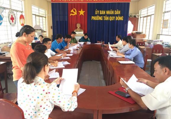 Ủy ban nhân dân phường Tân Quy Đông triển khai kế hoạch Đại hội TDTT lần thứ IX năm 2021